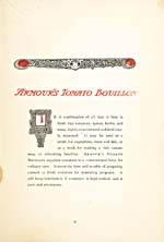 Page 33 of cookbook, CULINARY WRINKLES: PRACTICAL RECIPES FOR USING ARMOUR'S EXTRACT OF BEEF, with a text on Armour's Tomato Bouillon
