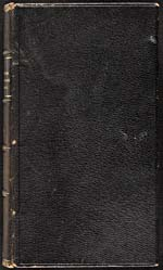 Cover of cookbook, LA CUISINIÈRE CANADIENNE… in black embossed leather