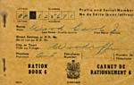 Cover of a ration book issued To Carol J, Wood, of Woodroffe, Ontario
