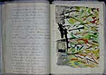 Facing pages from Marie-Claire Blais' notebook