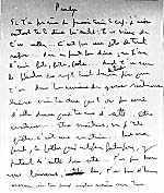 Manuscript page from Michel Tremblay's
