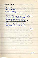 Facing pages from George Bowering's notebook for HIS LIFE, A POEM