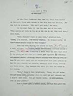 Manuscript page of the THE ROOT CELLAR by Janet Lunn