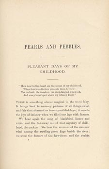 Page 37 of book, PEARLS AND PEBBLES, OR, NOTES OF AN OLD NATURALIST, by Catharine Parr Traill. First edition, Toronto: W. Briggs, 1894 (pages 37-42)