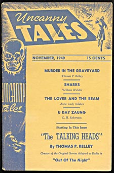 Cover of pulp magazine, UNCANNY TALES