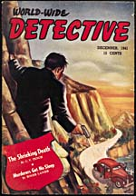 Cover of pulp magazine, WORLD-WIDE DETECTIVE, volume 1, number 4 (December 1941)