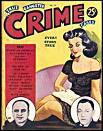Cover of pulp magazine, TRUE GANGSTER CRIME CASES, volume 2, number 10 (November, published in the 1940s)