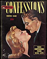 Cover of pulp magazine, STARTLING CONFESSIONS, volume 1, number 1 (Winter, published in the 1940s)