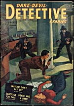 Cover of pulp magazine, DARE-DEVIL DETECTIVE STORIES, volume 2, number 1 (August 1942)