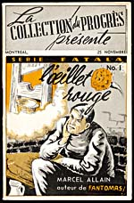 Cover of pulp magazine, L'�ILLET ROUGE, number 1 (November 25, 1951?)