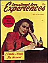 Cover of pulp magazine, SENSATIONAL LOVE EXPERIENCES, volume 9, number 1 (January 1950)