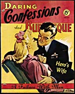Cover of pulp magazine, DARING CONFESSIONS AND BURLESQUE, volume 3, number 14 (June-July 1945)