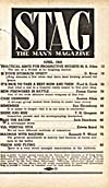 Table of contents of pulp magazine, STAG, April 1945