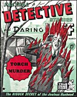 Cover of pulp magazine, FACTUAL DETECTIVE STORIES AND DARING LAFF, volume 4, number 17 (March 1945)