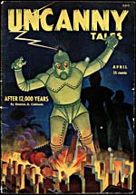 Cover of pulp magazine, UNCANNY TALES, volume 2, number 16 (April 1942)