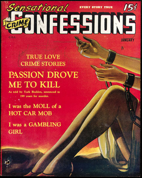 Full-length pulp magazine, SENSATIONAL CRIME CONFESSIONS, volume 2, number 1 (January 1946)