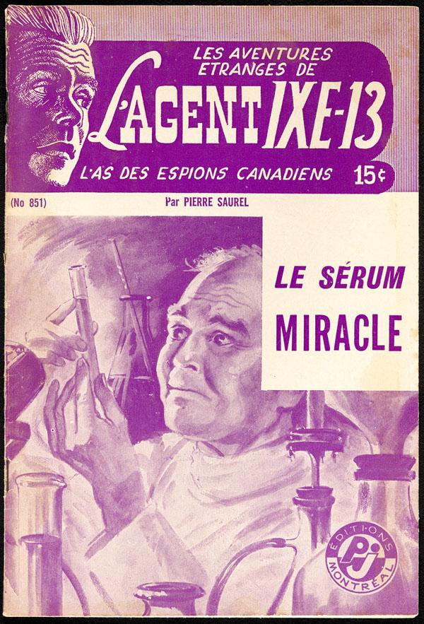 Cover of pulp magazine, LES AVENTURES ÉTRANGES DE L'AGENT IXE-13, L ...
