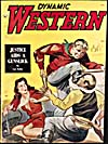 Cover of pulp magazine, DYNAMIC WESTERN, volume 48, number 7 (July 1945)