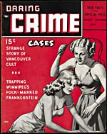 Cover of pulp magazine, DARING CRIME CASES, volume 2, number 6 (August-September 1943)