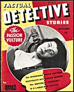 Cover of pulp magazine, FACTUAL DETECTIVE STORIES, volume 1, number 12 (September 1942)