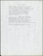 Page blanche avec texte dactylographié en noir