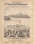 Illustrated cover of the sheet music for PEERLESS ROCKAWAY, by C.J. Arthur Marier