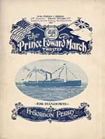 Illustrated cover of the sheet music for THE PRINCE EDWARD MARCH, by H. Gordon Perry