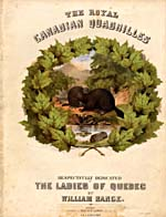 Illustrated cover of the sheet music for THE ROYAL CANADIAN QUADRILLES, by William Range