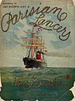 Illustrated cover of the sheet music for PARISIAN LANCERS, by Henry Bourlier