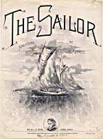 Illustrated cover of the sheet music for THE SAILOR, by E. Alfred
