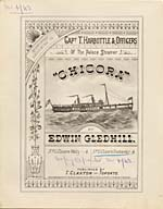 Illustrated cover of the sheet music for CHICORA, by Edwin Gledhill