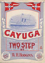 Illustrated cover of the sheet music for CAYUGA, by W.H. Hodgins