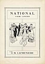 Illustrated cover of the sheet music for NATIONAL, by J.B. Lafrenière