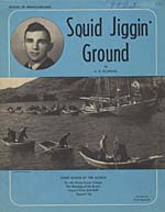 Illustrated cover of the sheet music for SQUID JIGGIN' GROUND, by A.R. Scammell