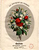 Illustrated cover of the sheet music for LE BOUQUET DE PERLES, by Henry Princel
