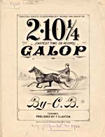Illustrated cover of the sheet music for 2.10¼ GALOP, by C.B.