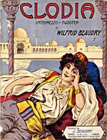 Illustrated cover of the sheet music for CLODIA, by Wilfrid Beaudry
