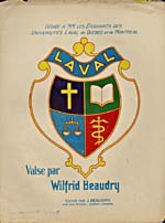Illustrated cover of the sheet music for LAVAL, by Wilfrid Beaudry