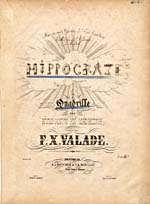 Illustrated cover of the sheet music for HIPPOCRATE, by F.X. Valade