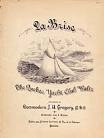 Illustrated cover of the sheet music for LA BRISE, by J. Vézina