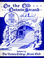 Couverture illustrée de la musique en feuilles de ON THE OLD ONTARIO STRAND, arrangement musical de Joyce Belyea