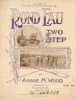 Illustrated cover of the sheet music for ROND EAU, by Annie M. Wood