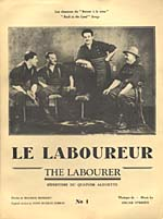 Illustrated cover of the sheet music for LE LABOUREUR (THE LABOURER), words by Maurice Morisset and music by Oscar O'Brien