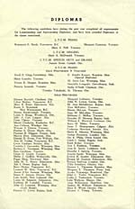 Inside front of program for the Toronto Conservatory of Music graduation exercises, 1946