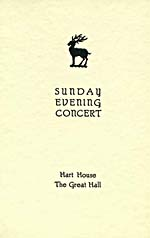 Cover of program for the 223rd Hart House Sunday Evening Concert at the University of Toronto, 1950