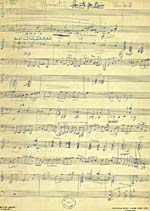 Manuscript, SONATA FOR PIANO, by Glenn Gould