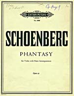 Cover of score, PHANTASY FOR VIOLIN WITH PIANO ACCOMPANIMENT, OPUS 47, by Arnold Schoenberg