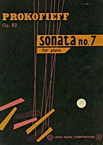 Cover of score, SONATA NO. 7 FOR PIANO, OP. 83, by Sergei Prokofieff