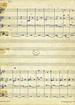 Manuscript score, STRING QUARTET, OP. 1, by Glenn Gould
