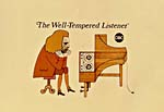 Promotional artwork for CBC-TV broadcast, THE WELL-TEMPERED LISTENER, 1970